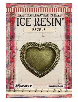 ICE Resin® Milan Bezels: Antique Bronze Large Heart, 1pc.