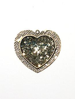 ICE Resin® Milan Bezels: Antique Bronze Large Heart, 1pc. Bezels & Charms ICE Resin®