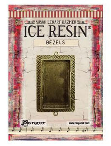 ICE Resin® Milan Bezels: Antique Bronze Medium Rectangle, 1pc.