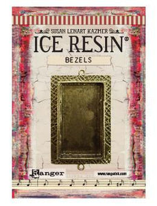 ICE Resin® Milan Bezels: Antique Bronze Large Rectangle, 1pc. Bezels & Charms ICE Resin®