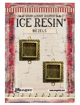 ICE Resin® Milan Bezels: Antique Bronze Small Square, 2pcs.