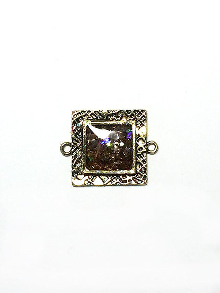 ICE Resin® Milan Bezels: Antique Bronze Small Square, 2pcs. Bezels & Charms ICE Resin®