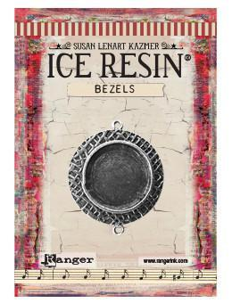 ICE Resin® Milan Bezels: Antique Silver Medium Circle, 1pc.
