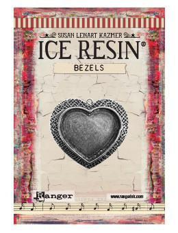 ICE Resin® Milan Bezels: Antique Silver Medium Heart, 1pc. Bezels & Charms ICE Resin®