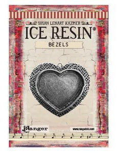 ICE Resin® Milan Bezels: Antique Silver Large Heart, 1pc. Bezels & Charms ICE Resin®