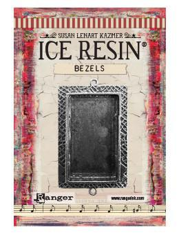 ICE Resin® Milan Bezels: Antique Silver Large Rectangle, 1pc.