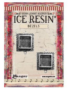 ICE Resin® Milan Bezels: Antique Silver Small Square, 2pcs. Bezels & Charms ICE Resin®