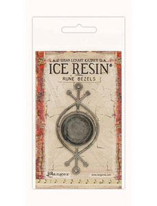 ICE Resin® Rune Bezels: Antique Silver Round Bezels & Charms ICE Resin®