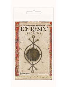 ICE Resin® Rune Bezels: Antique Bronze Round Bezels & Charms ICE Resin®