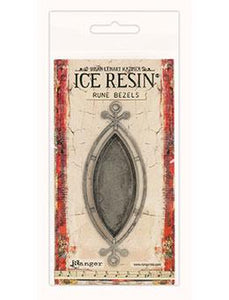 ICE Resin® Rune Bezels: Antique Silver Ellipse