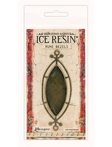 ICE Resin® Rune Bezels: Antique Bronze Ellipse