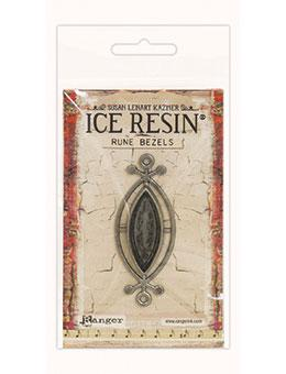 ICE Resin® Rune Bezels: Antique Silver Small Ellipse