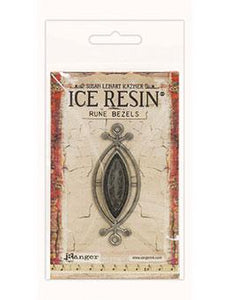 ICE Resin® Rune Bezels: Antique Silver Small Ellipse Bezels & Charms ICE Resin®
