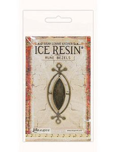 ICE Resin® Rune Bezels: Antique Bronze Small Ellipse Bezels & Charms ICE Resin®