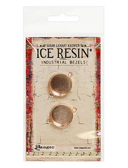 ICE Resin® Industrial Bezel Collection Rose Gold Circles 2pk Bezels & Charms ICE Resin®