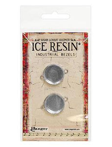 ICE Resin® Industrial Bezel Collection Sterling Small Circles 2pk