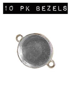 NEW! ICE Resin® Industrial Bezel Sterling Small Circle 10PK