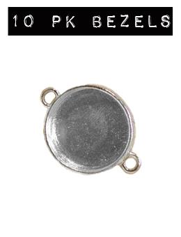ICE Resin® Industrial Bezel Sterling Small Circle 10PK Bezels & Charms ICE Resin®