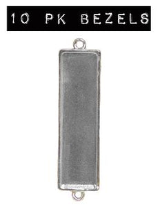 NEW! ICE Resin® Industrial Bezel Sterling Large Rectangle 10PK