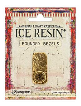 ICE Resin® Foundry Bezel Cabby Rectangle Bezels & Charms ICE Resin® Gold