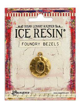 ICE Resin® Foundry Bezel Cabby Round Bezels & Charms ICE Resin® Gold