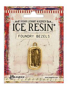 ICE Resin® Foundry Bezel Disco Rectangle Bezels & Charms ICE Resin® Gold
