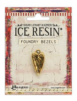 ICE Resin® Foundry Bezel Hammered Heart Bezels & Charms ICE Resin® Gold