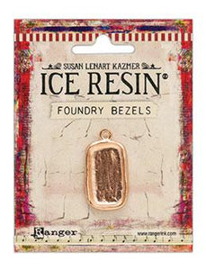 ICE Resin® Foundry Bezel Disco Rectangle Bezels & Charms ICE Resin® Rose Gold