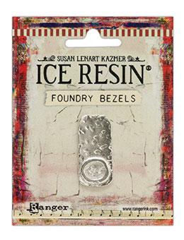 ICE Resin® Foundry Bezel Cabby Rectangle Bezels & Charms ICE Resin® Silver