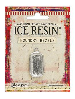 ICE Resin® Foundry Bezel Disco Rectangle Bezels & Charms ICE Resin® Silver
