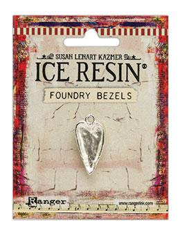 ICE Resin® Foundry Bezel Hammered Heart Bezels & Charms ICE Resin® Silver