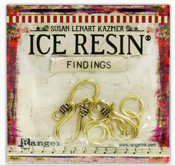 ICE Resin® Findings S Hooks & Jump Rings: Antique Bronze Findings ICE Resin®