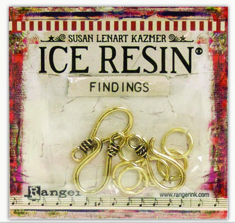 ICE Resin® Findings S Hooks & Jump Rings: Antique Bronze