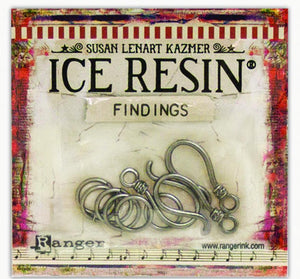 ICE Resin® Findings S Hooks & Jump Rings: Antique Silver