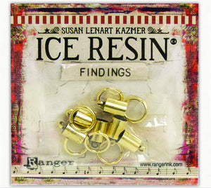 ICE Resin® Findings 6mm End Caps & Jump Rings: Antique Bronze