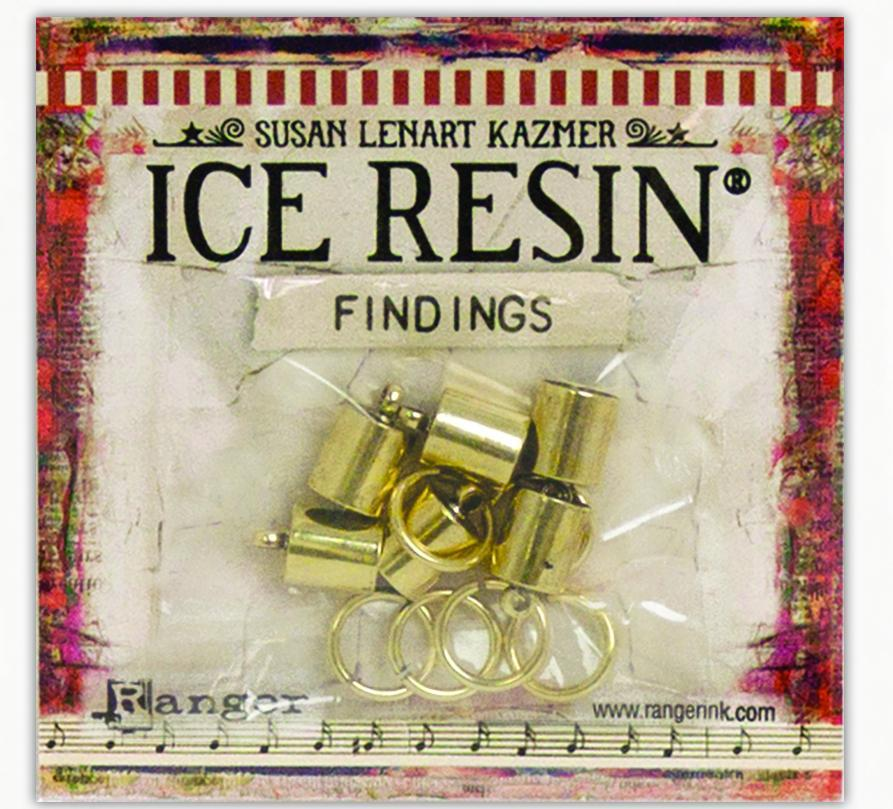 ICE Resin® Findings 7mm End Caps & Jump Rings: Antique Bronze Findings ICE Resin®