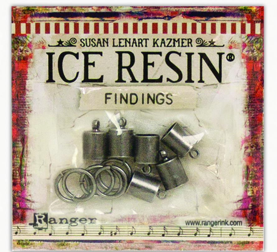 ICE Resin® Findings 7mm End Caps & Jump Rings: Antique Silver Findings ICE Resin®