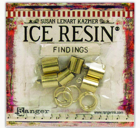 ICE Resin® Findings 8mm End Caps & Jump Rings: Antique Bronze Findings ICE Resin®