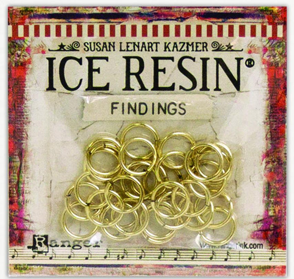 ICE Resin® Findings Jump Rings: Antique Bronze Findings ICE Resin®