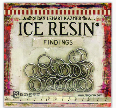 ICE Resin® Findings Jump Rings: Antique Silver Findings ICE Resin®