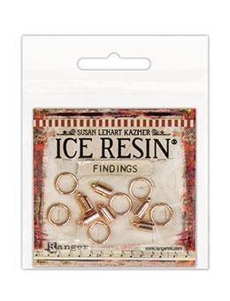 ICE Resin® Findings 5mm End Caps & 10mm Jump Rings: Rose