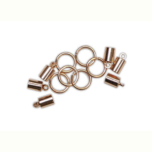 ICE Resin® Findings 5mm End Caps & 10mm Jump Rings: Rose Findings ICE Resin®