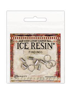 ICE Resin® Findings 5mm End Caps & 10mm Jump Rings: Sterling