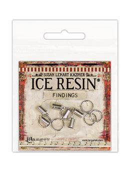 ICE Resin® Findings 5mm End Caps & 10mm Jump Rings: Sterling Findings ICE Resin®