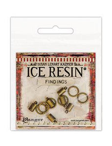 ICE Resin® Findings 5mm End Caps & 10mm Jump Rings: Antique Bronze