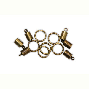 ICE Resin® Findings 5mm End Caps & 10mm Jump Rings: Antique Bronze Findings ICE Resin®