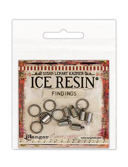 NEW! ICE Resin® Findings 5mm End Caps & 10mm Jump Rings: Antique Silver