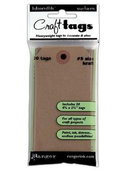 Ranger Craft Tags #5 Kraft, 20pc Surfaces Ranger Brand