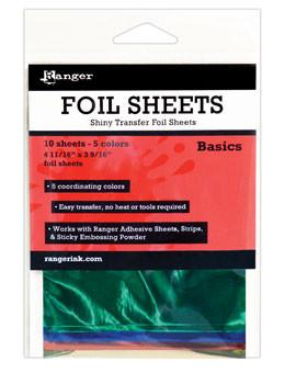 Ranger Shiny Transfer Foil Sheets Basic, 10pc Foil Sheets Ranger Brand