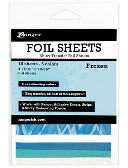 Ranger Shiny Transfer Foil Sheets Frozen, 10pc Foil Sheets Ranger Brand